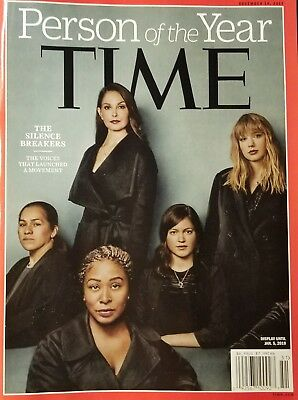 Time Magazine person of the year silence Breakers December 2017 no mailing label