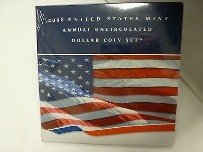 2008 US Mint Annual Uncirculated Dollar Coin Set--Sealed from Mint