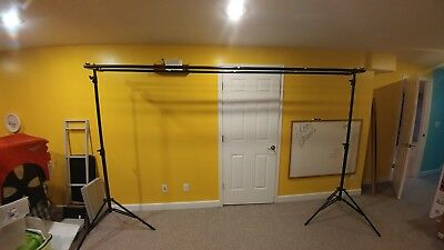 Square perfect SP2800 Triple Play Backdrop Support Stand. Holds three backdrops
