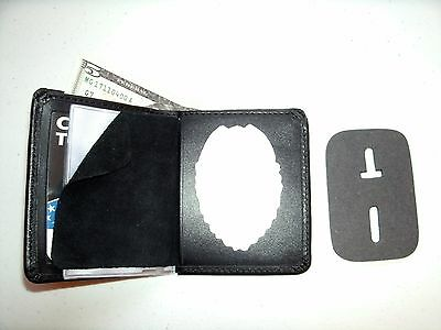 Unionville Iowa Police Patrolman Badge & ID Wallet Bi-Fold B-296 cut out CT-06
