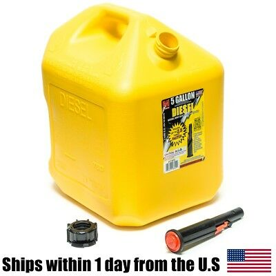 5 Gallon Yellow Diesel Gas Can Container Midwest Gas Company 5 Gal