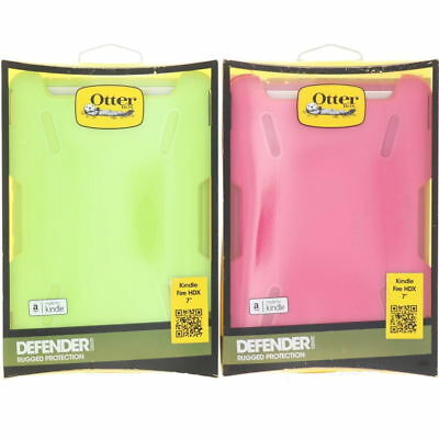 "Otterbox Defender Case for Amazon Kindle Fire HDX 7"" Green Pink 2013 NEW!!!"