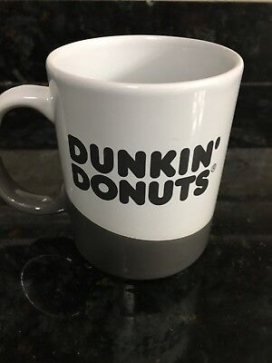 Dunkin Donuts Ceramic Mug 16 oz Grey/white New With Tag