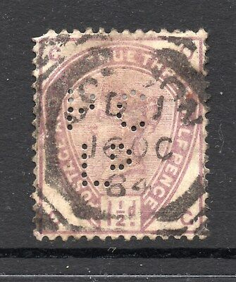 Queen Victoria 1½d SG188 Used Perfin As Scanned Cat £45.00 As Used