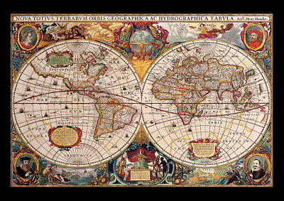 Old World Map Cartography Ancient Atlas Of The World Poster