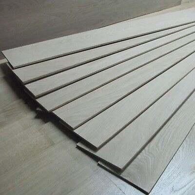 4mm Solid Oak Lamellas / Veneer / Overlay - Unfinished Wood - Fine Grade - OB10
