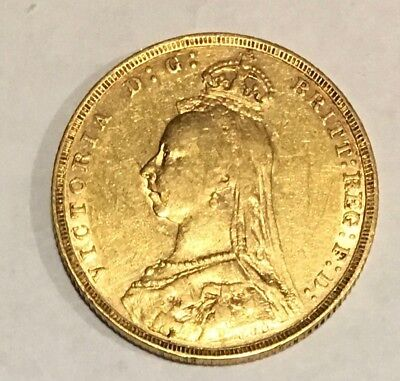 1891 Great Britain Full Gold Sovereign - VICTORIA JUBILEE