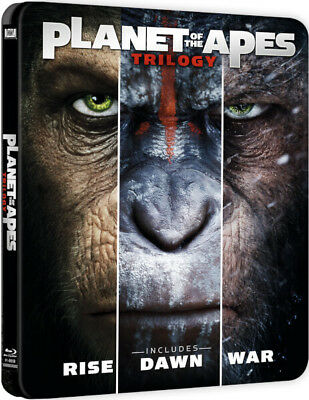 Planet of the Apes Trilogy - Limited Edition Steelbook (Blu-ray) BRAND NEW!!