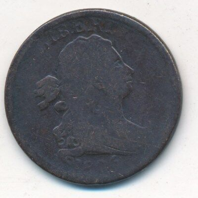 1806 Draped Bust Half Cent-Nice Circulated Coin-Rotated Reverse-Free Ship! Inv:2