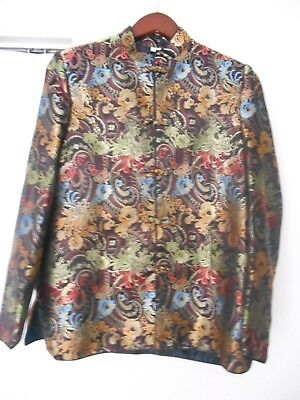 Traditional Chinese Silk Jacket  Ladies, Size L /40 Floral Pattern