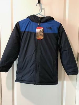 The North Face Boys Hooded Reversible Jacket Monster Blue Med 10/12 NWT