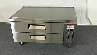 """CHEF BASE 48"""" Refrigerated Grill Stand 2  Equipment Table 4 Refrigerator Drawer"""