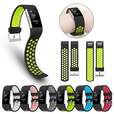 Replacement Silicone Nike Sports Strap Wrist band Bracelet For Fitbit Charge 2