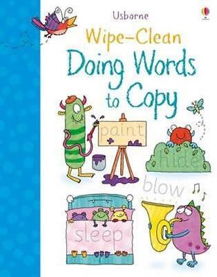 NEW Wipe-Clean Doing Words to Copy By Hannah Watson Paperback Free Shipping
