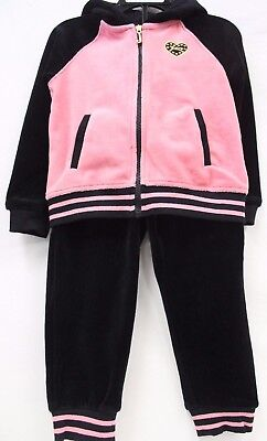 *NEW* Juicy Couture Girl's 2 Piece Hooded Velour Track Set