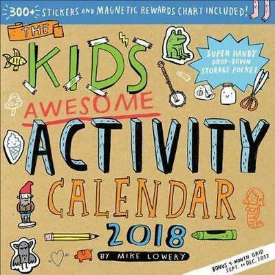 NEW The Kid's Awesome Activity : Calendar 2018 Wall Calendar Free Shipping