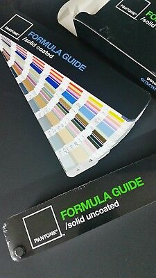 New! PANTONE FORMULA GUIDE SOLID COATED,  UNCOATED SET OF 2 IN BOX