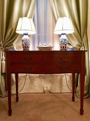 Mahogany inlaid side cabinet / Chest of drawers / Console Edwardian style