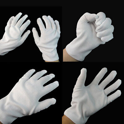 White Short Gloves Captain Clown Magician Santa Halloween Fancy Dress CostumEVz