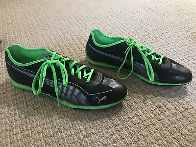 Puma Speed Cat Green Lace Up Mens Synthetic Trainers