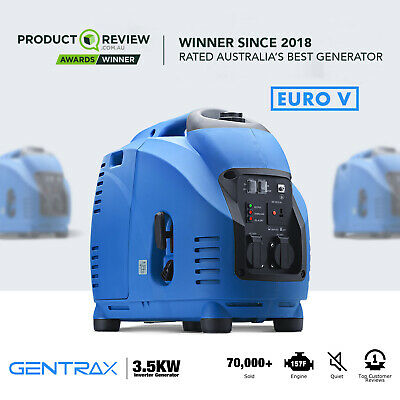 [15%OFF]GenTrax Inverter Generator 3.5KW Max 3KW Rated Pure Sine Portable Petrol
