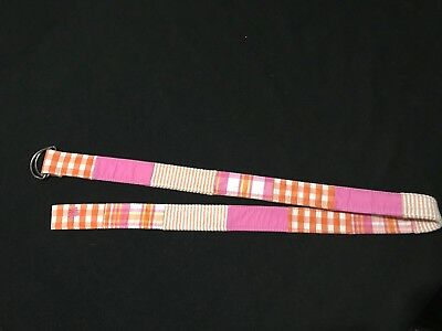 Lilly Pulitzer Girl's Plaid And Striped Fashion Boutique Belt, Sz Med