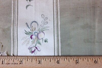 Antique Textile Collector's Original HandPainted 18thC French Silk Sample Fabric