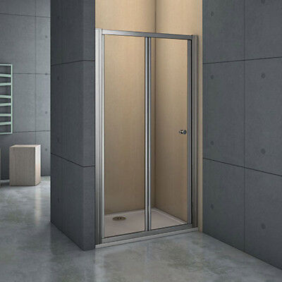 Aica Frame Bi Fold Shower Enclosure Walk in 5mm Safety Glass Door Screen BRG
