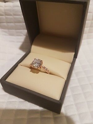 Stunning New 2ct Rose Gold Engagement Ring