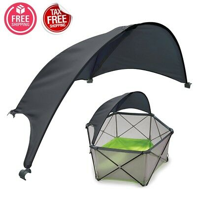 Baby Playpen Canopy Toddler Sun Shade Protect Safety Playard Portable Outdoor