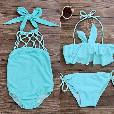 One-piece Baby Kids Girls Bikini Swimwear Swimming Bathing Suit Swimsuit Clothes