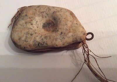 Antique Very Rare Stone Early Native American Fishing Net Weight Artifact