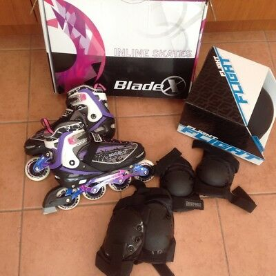 Roller blades - kids, teen or adult size, with helmet & accessories