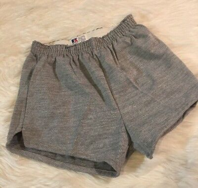 NWOT Vintage Russell Athletics Gray Mens Shorts Size Small S Sports Work Out