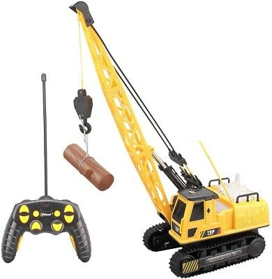 Remote Control Crane RC Construction 12 Channel Baterry Powered Lights Sound Toy