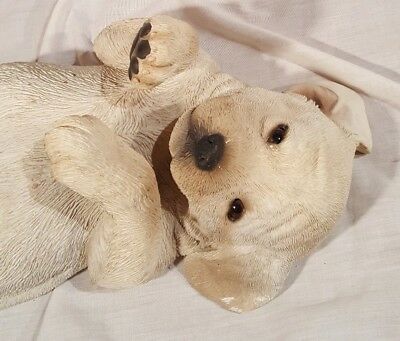 Life size Yellow Labrador Retriever Puppy Statye Sandicast Collectable realistic