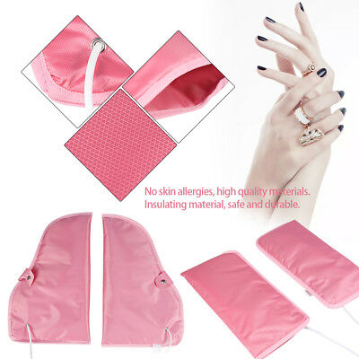 Electric Heated Mitts Manicure Nail Art Gloves Heated Wax Temperature Adjustable