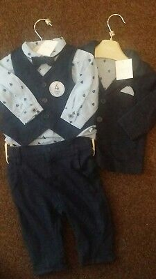 next baby boy 3-6 months outfit suit gift set BNWT