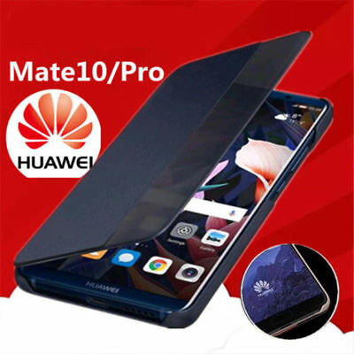 Genuine Luxury Smart View PU Leather Flip Cover Case For Huawei Mate 10/10 Pro