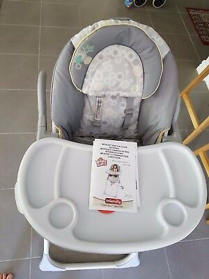 High Chair Sturdy with multiple functions and easy storage. See link to Youtube