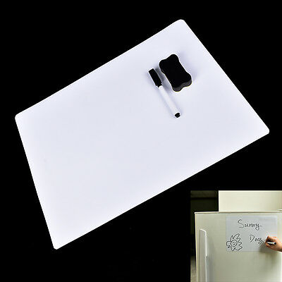 42X30cm Magnetic Fridge Removable Whiteboard Message Board/Memo Pad D8Y
