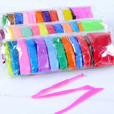 12Pcs Colorful Soft Polymer Plasticine Fimo Effect Clay Blocks DIY Educational