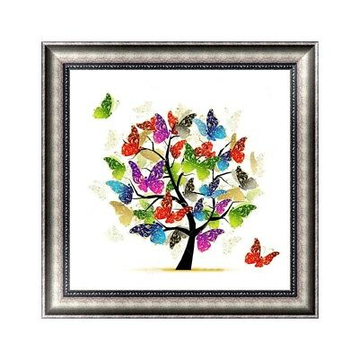 DIY 5D Diamond Painting Butterfly tree Cross Stitch Embroidery Craft Home Decor