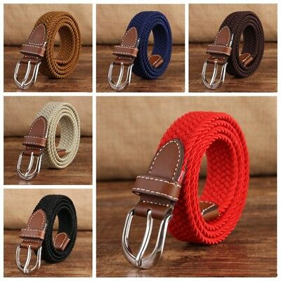 Children Casual Belt Canvas Elastic Buckle Waist Strap Rugged Classic Jean Belt