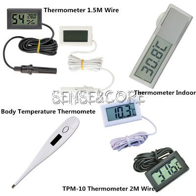 Black/White Aquarium Temperature Gauge LCD Digital Thermomer For FIish Tank NEU