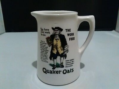 Quaker Oats The Work Food Ceramic Milk Jug