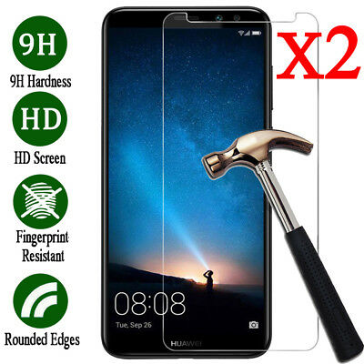 2X Tempered Glass Screen Protector For Huawei Nova 2i /Mate 10 Lite /Honor 9i