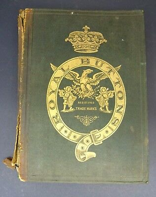 c1890s Royal Buttons Trade/ Sales Display Folder