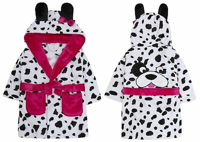 Girls Novelty Warm Winter Dalmation Dog Dressing Gown