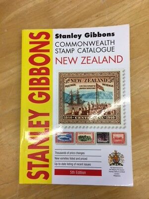 Stanley Gibbons Commonweath Stamp Catalogue NEW ZEALAND 5th Edition, good used